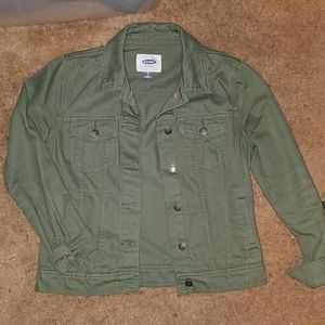 ON olive denim jacket